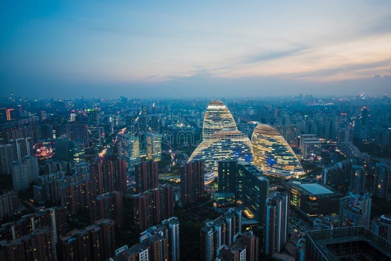 SOHO Wangjing в Пекине стоковое изображение