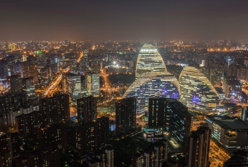 SOHO Wangjing no Pequim fotografia de stock royalty free