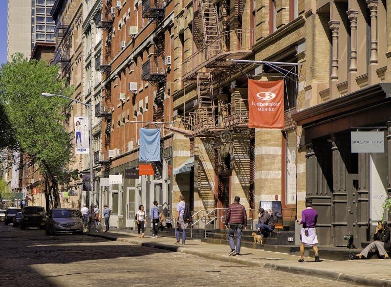 Sohostraat, Lower Manhattan, New York royalty-vrije stock fotografie