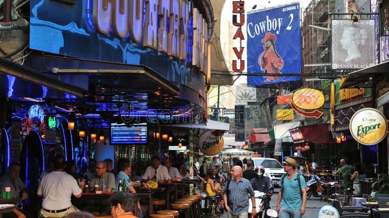 Soi Cowboy à Bangkok image stock