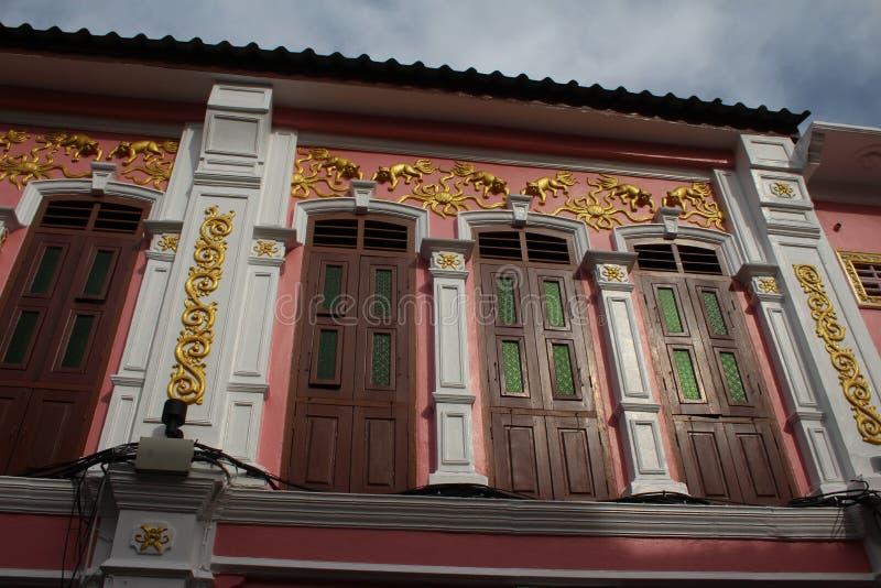Soi Romanee in Phuket Town stock image