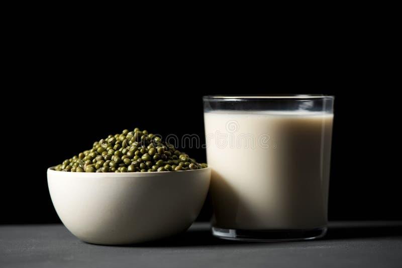 Soia e latte di soia fotografia stock libera da diritti