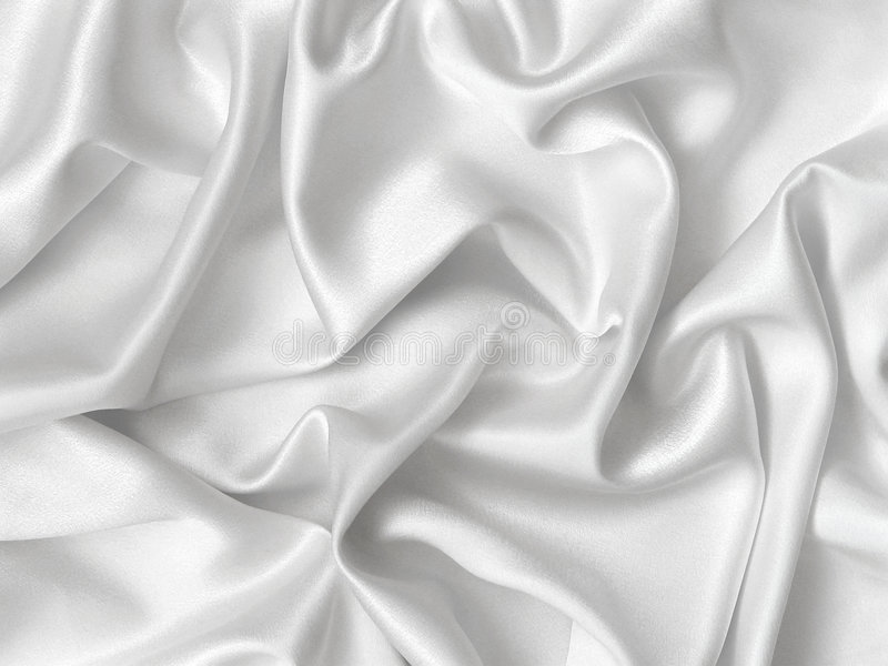 Soie blanche. image stock