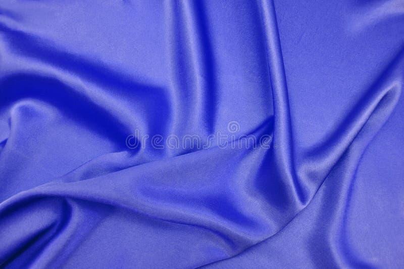 Soie bleue photographie stock libre de droits