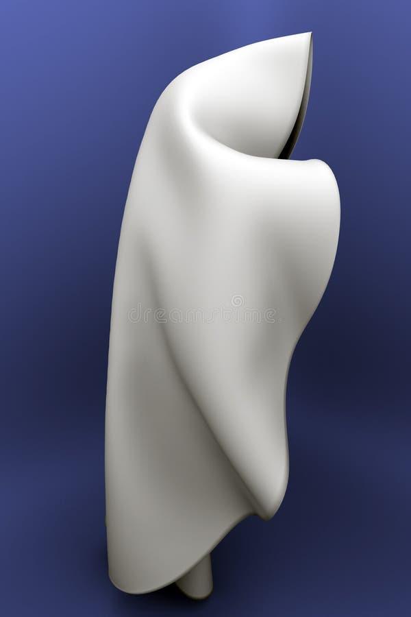 Soie pliée blanche illustration stock