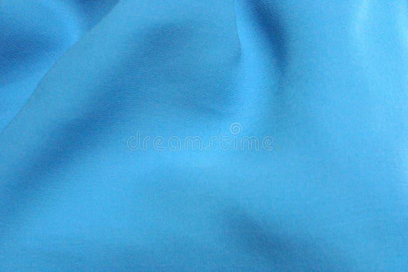 Soie texturisée bleue d'Aqua photographie stock