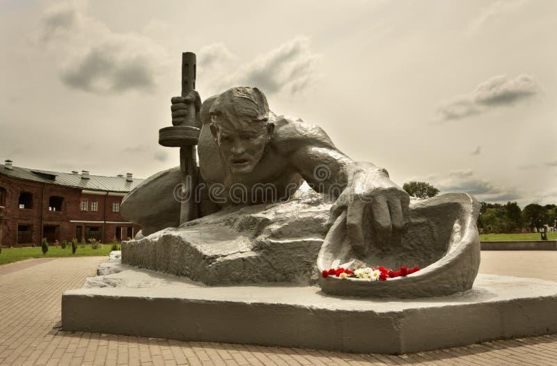 Soif de sculpture dans la forteresse de Brest image libre de droits
