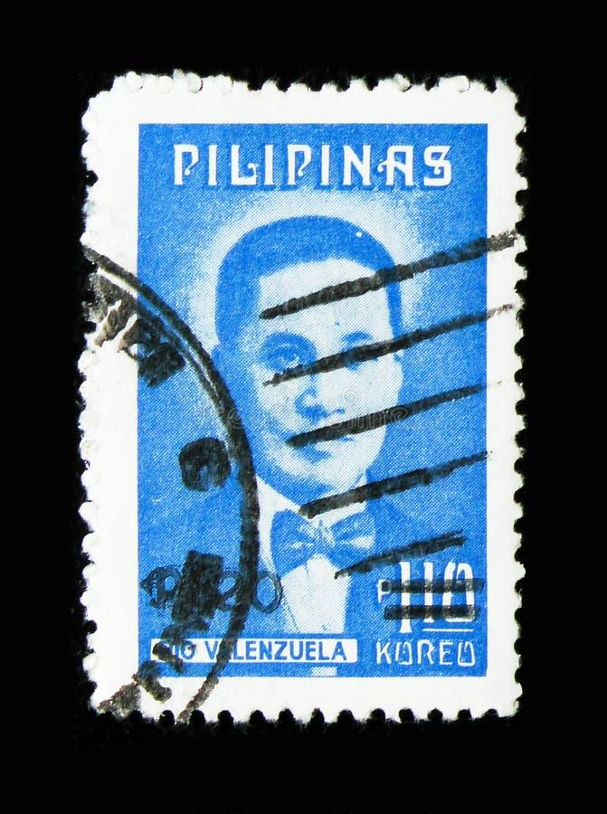 Soignez Pio Valenzuela, serie de patriotes, vers 1974 image libre de droits