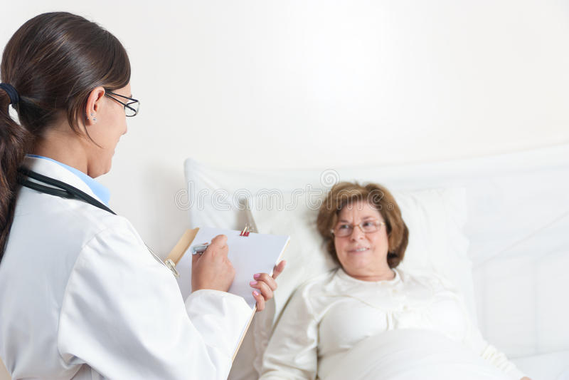 Soignez Writing Prescription images stock