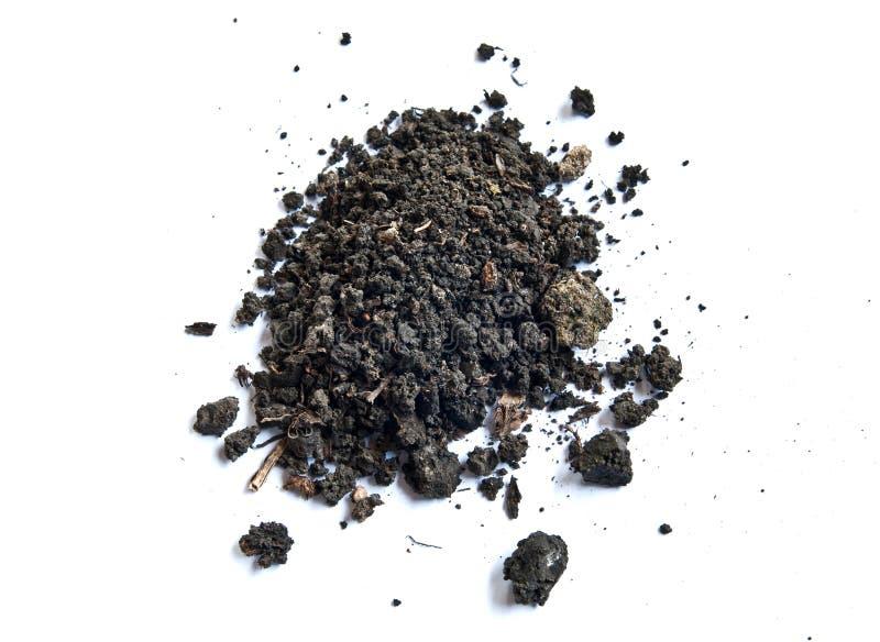 Soil. Top view of garden soil stock image