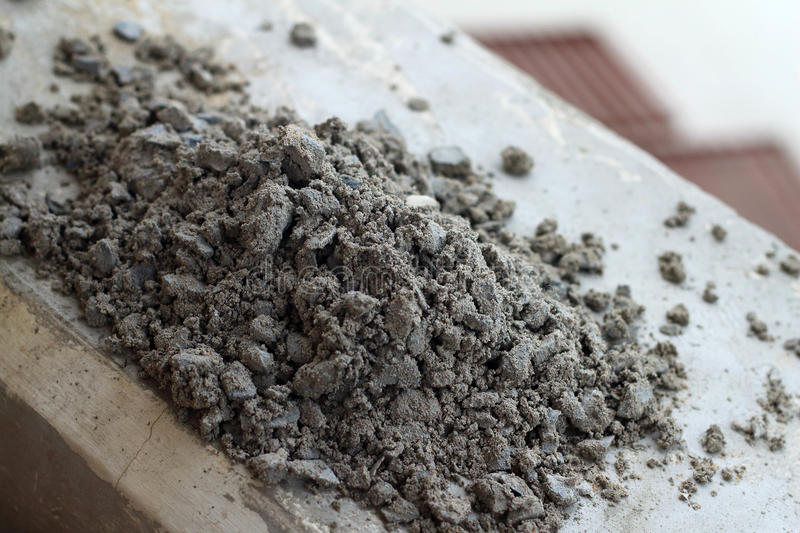 Soil and cement as a background - used for construction. stock photos