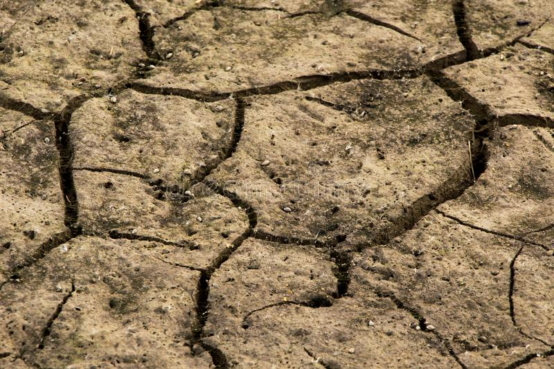 Soil cracked background. Land in dry season. Image royalty free stock images