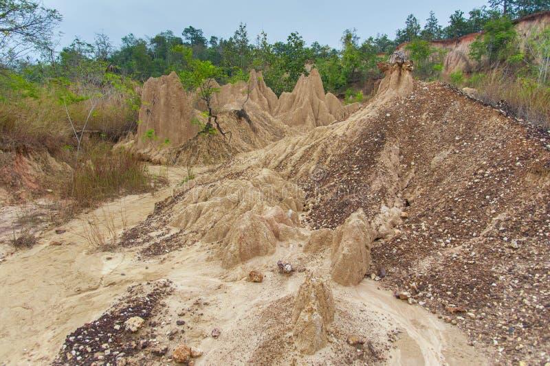 Erosion in Thailand. Soil erosion in Northern Thailand stock photos