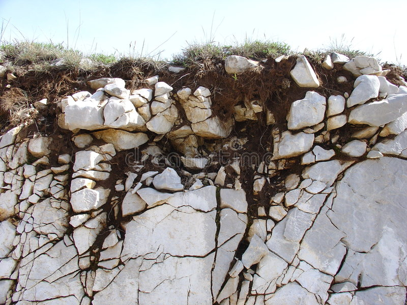 Soil formation on limestone royalty free stock images