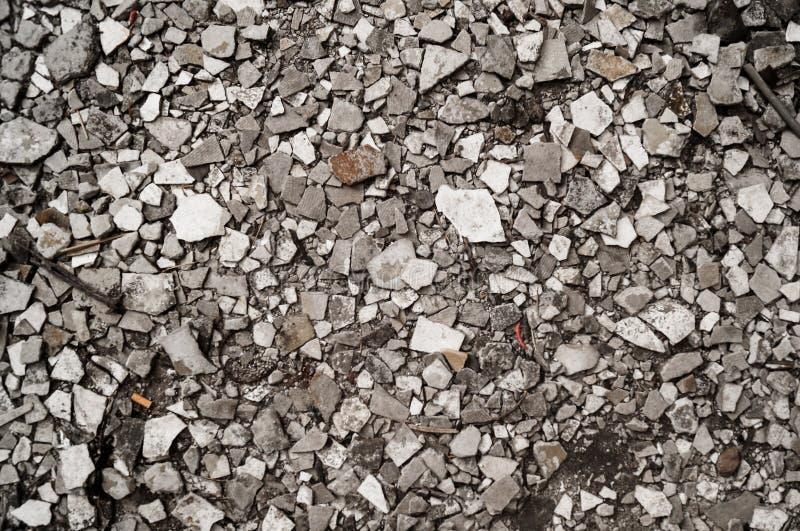 Soil full of broken rocks royalty free stock photo