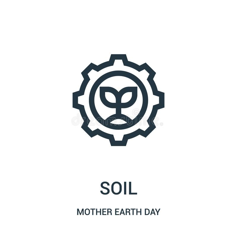 soil icon vector from mother earth day collection. Thin line soil outline icon vector illustration stock illustration