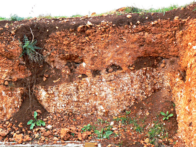 Soil layers royalty free stock images