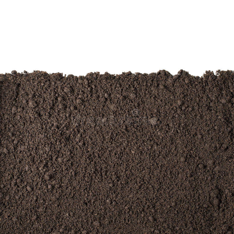 Free Soil Section Texture Isolated On White Royalty Free Stock Photos - 45086218