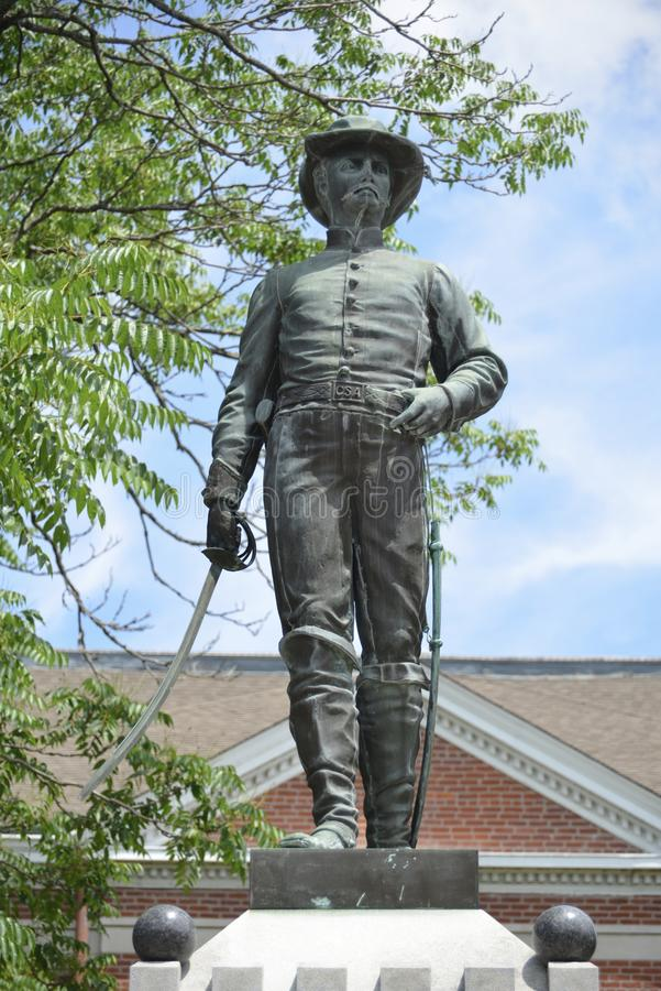 Soilder confédéré avec le sabre d'abordage photo libre de droits