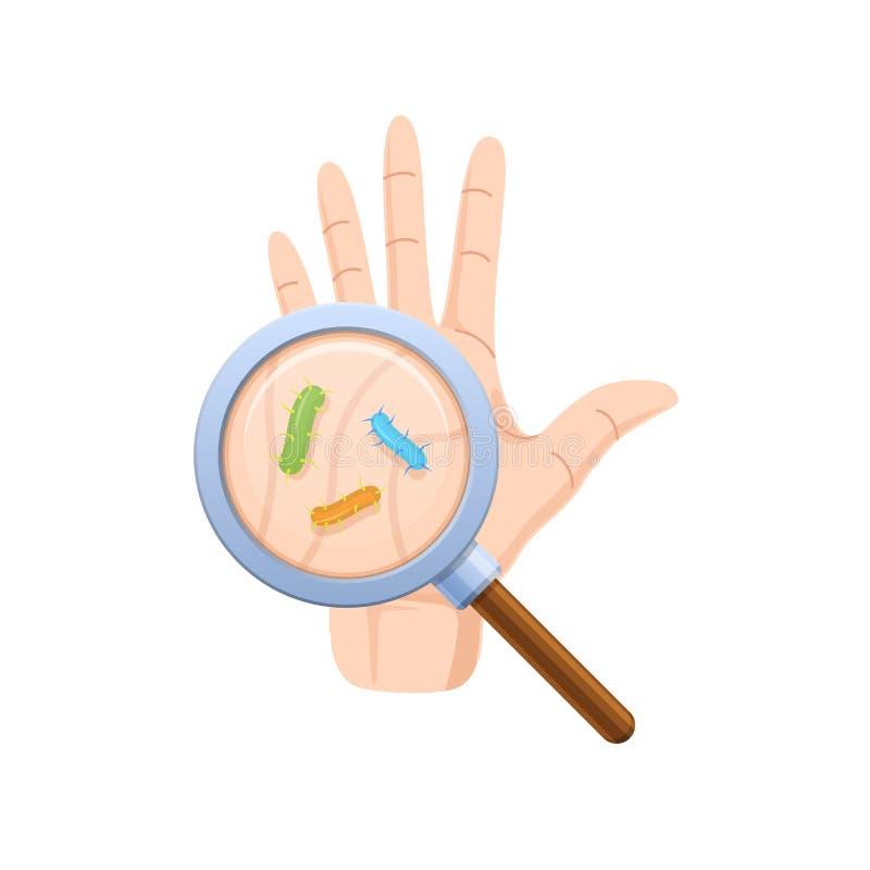 Soin approprié des mains Lavage de main, désinfection, hygiène sanitaire illustration stock