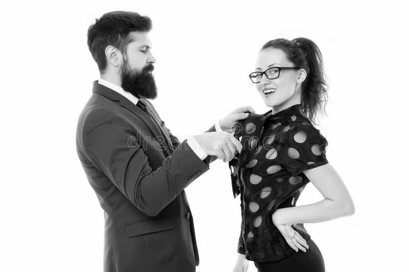 Soin au sujet de l'un l'autre aller sur la partie couples de toilettage Couples dans l'amour Couples d'affaires Ils appartiennent image stock