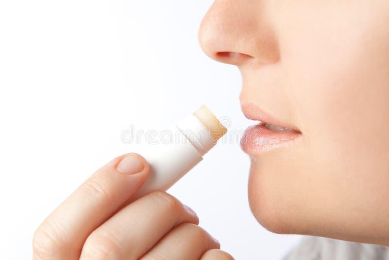 Soin de lèvre images stock