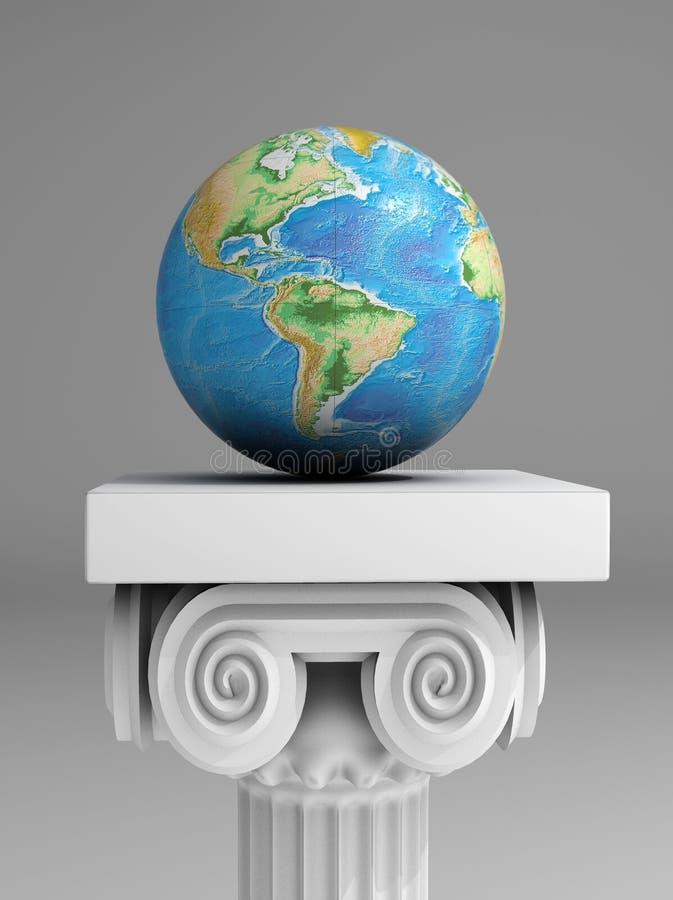 Soin de la terre illustration de vecteur