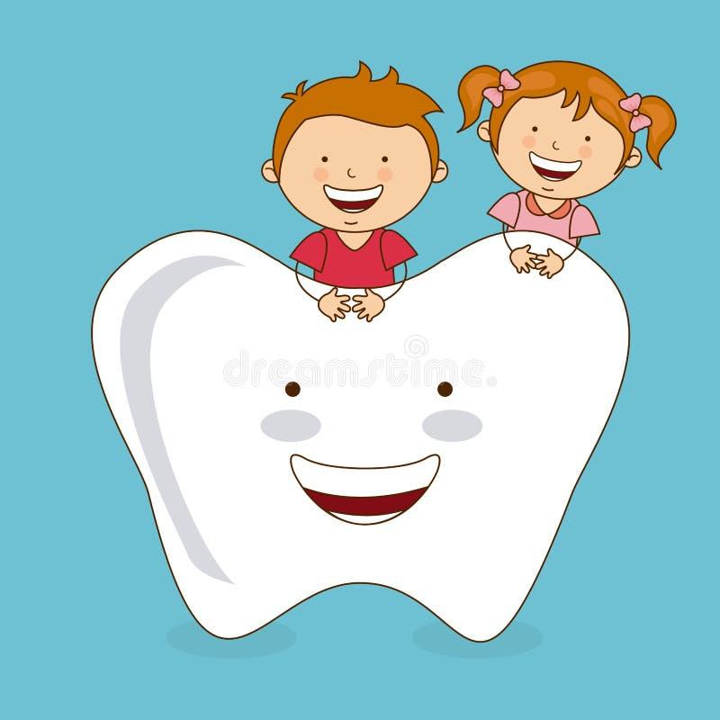 Soin dentaire illustration libre de droits