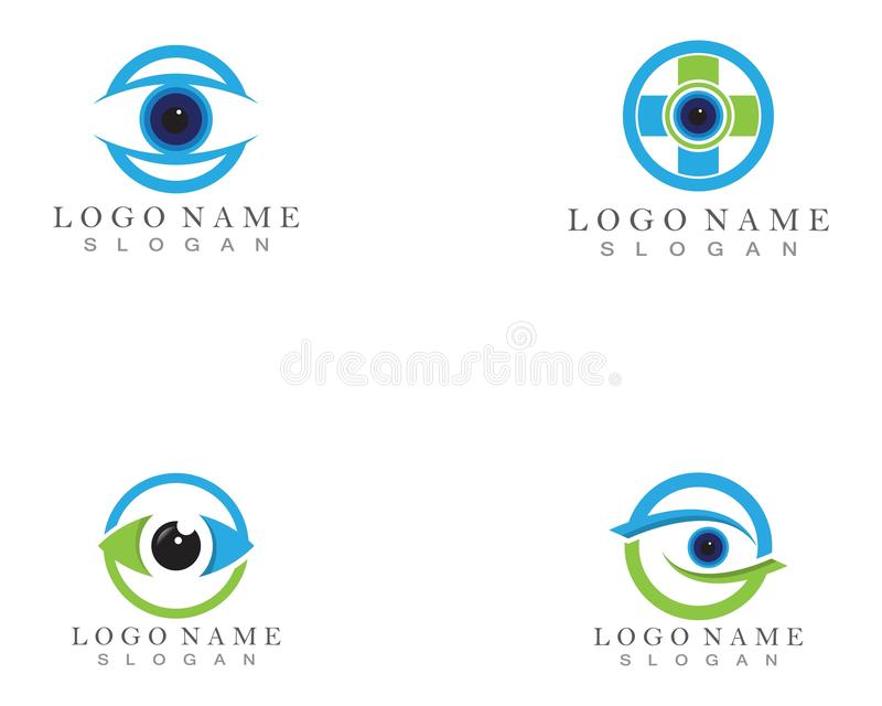 Soin Logo Template d'oeil illustration de vecteur