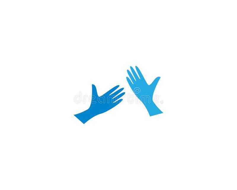 Soin Logo Template de main illustration de vecteur