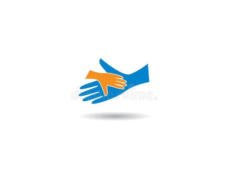 Soin Logo Template de main illustration libre de droits