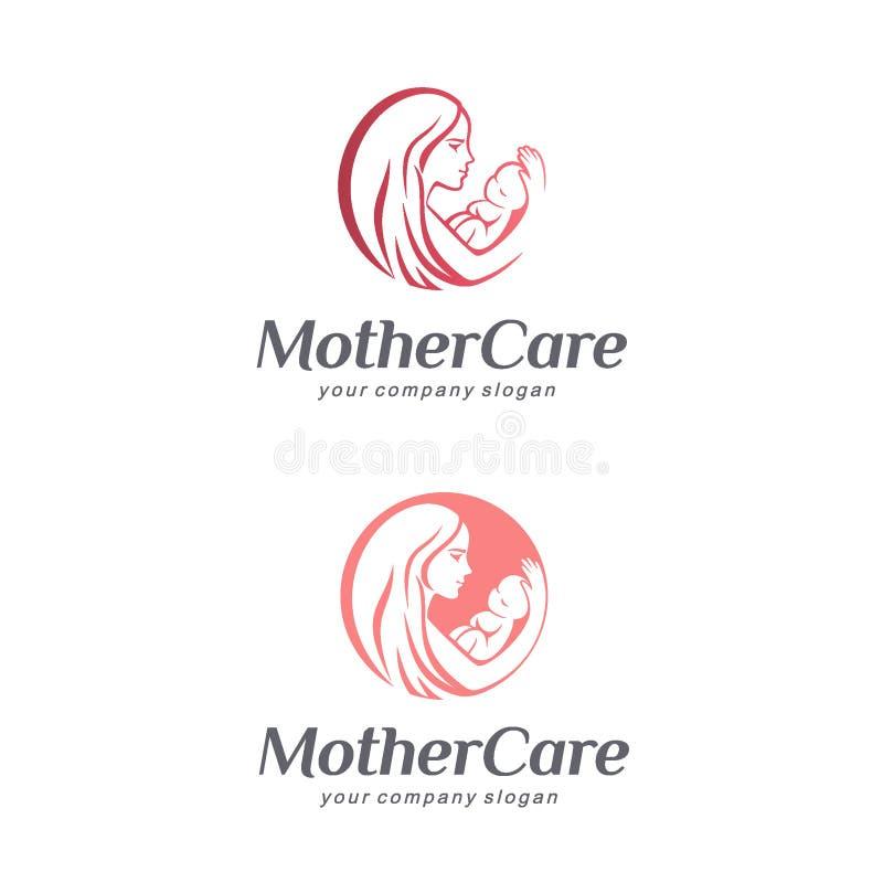 Soin, maternité et grossesse de bébé Signe de mère illustration libre de droits
