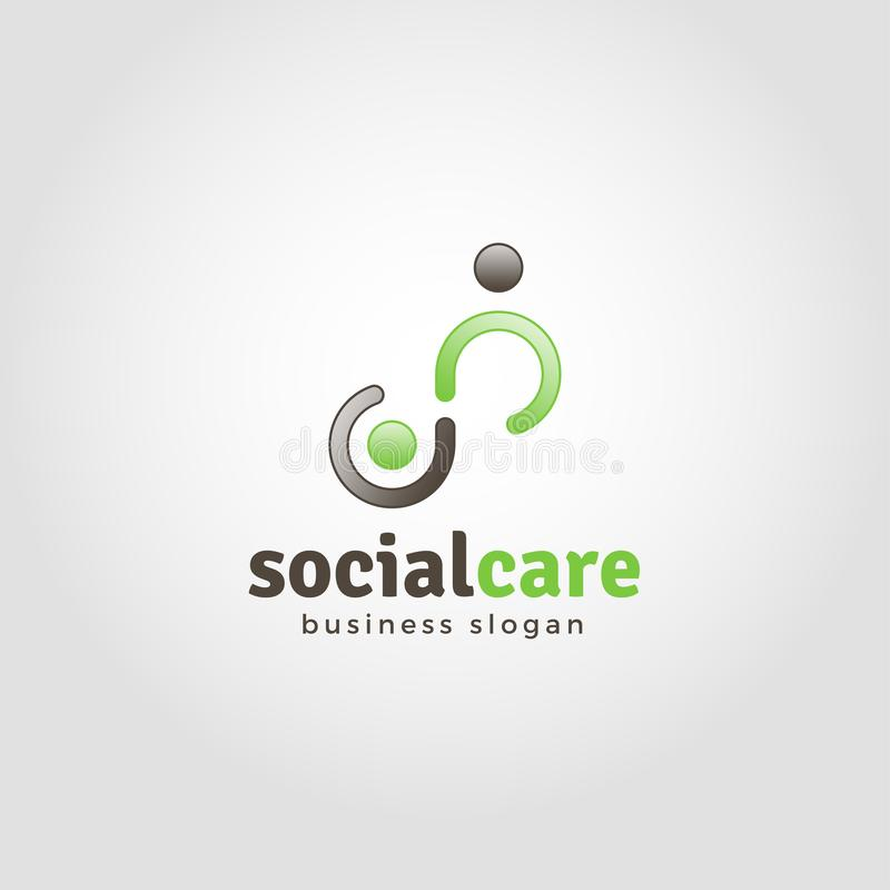 Soin social - humanité Logo Template illustration stock