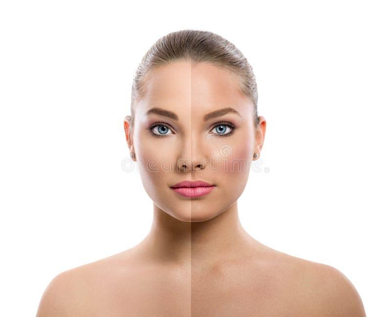Soins de la peau bronzages photo stock