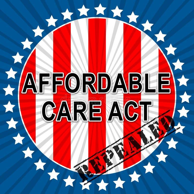 Soins de santé abordables d'acte de soin de l'abrogation ACA - 2d illustration illustration libre de droits