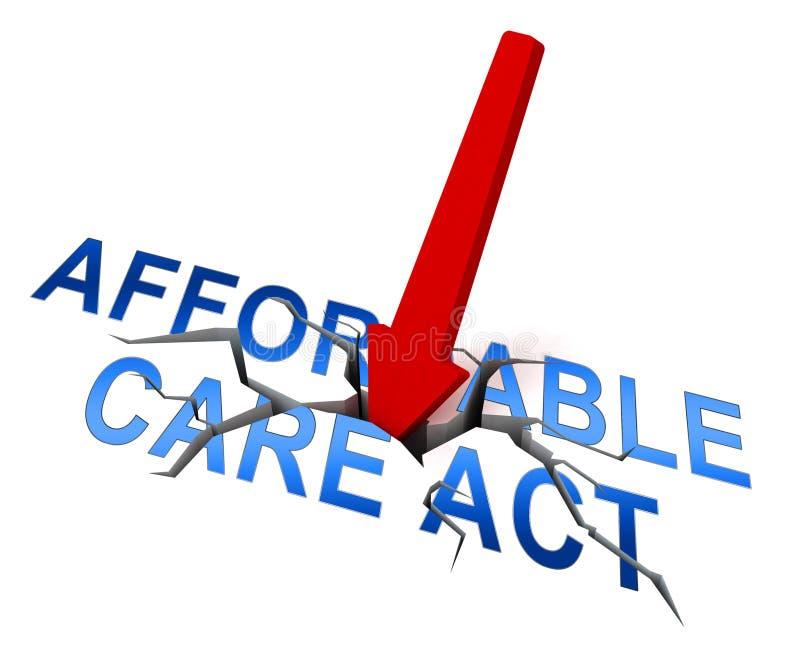 Soins de santé abordables d'acte de soin de l'abrogation ACA - illustration 3d illustration stock