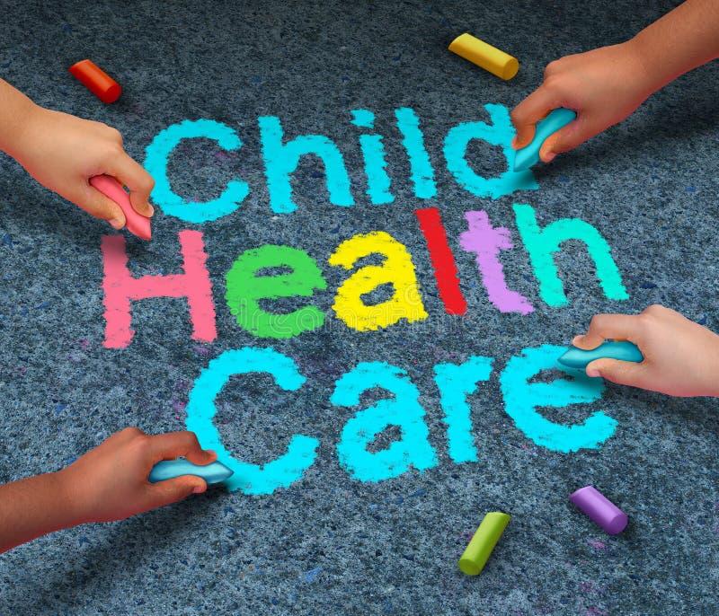Soins de santé d'enfant illustration libre de droits