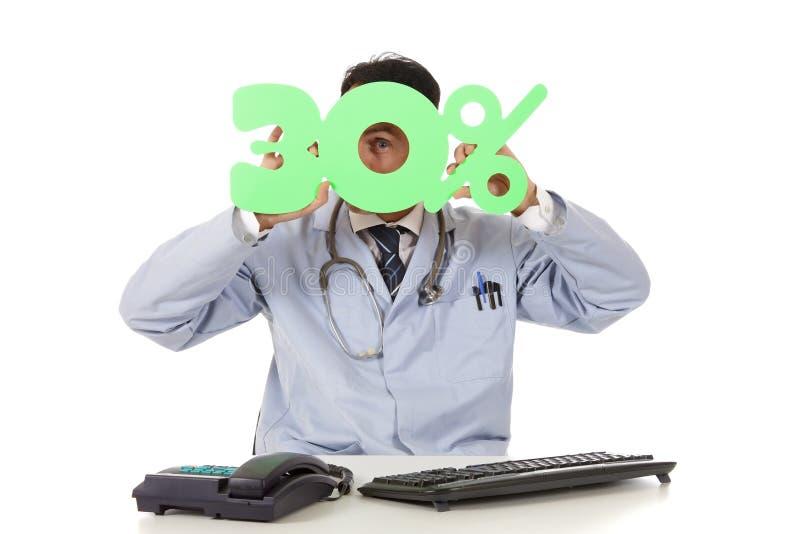 Soins de santé en vente, 30 % photo stock
