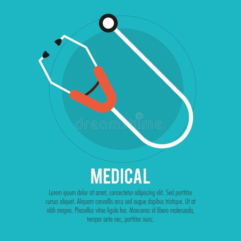Soins de santé médicaux de stéthoscope illustration de vecteur