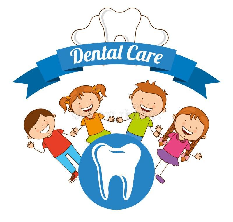 Soins dentaires d'enfants illustration de vecteur