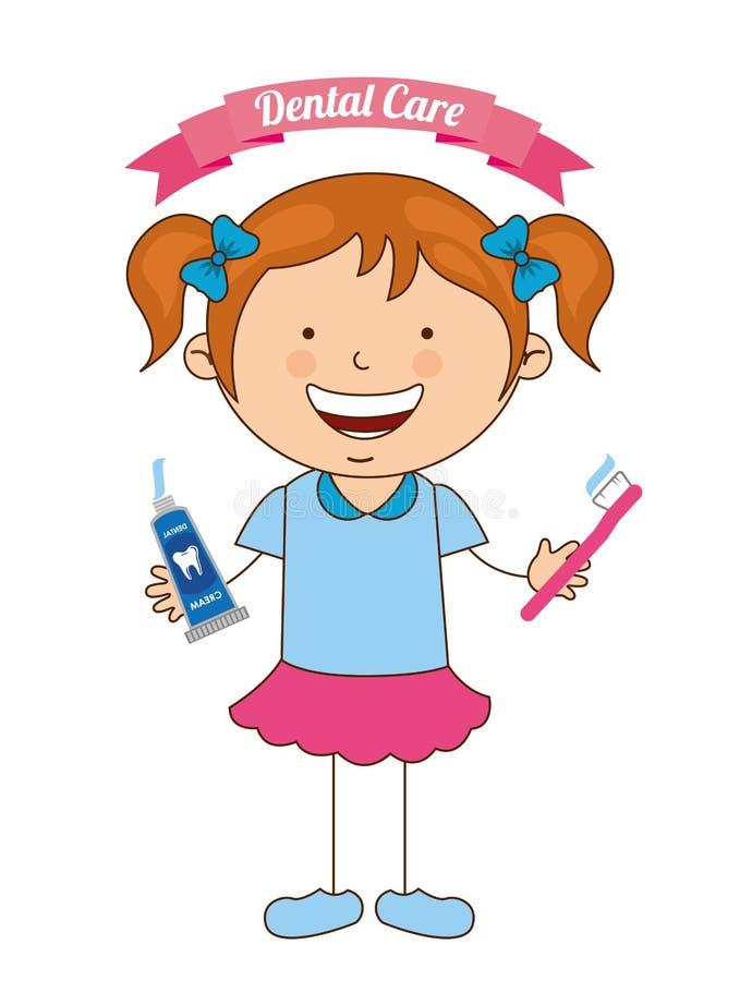 Soins dentaires d'enfants illustration stock