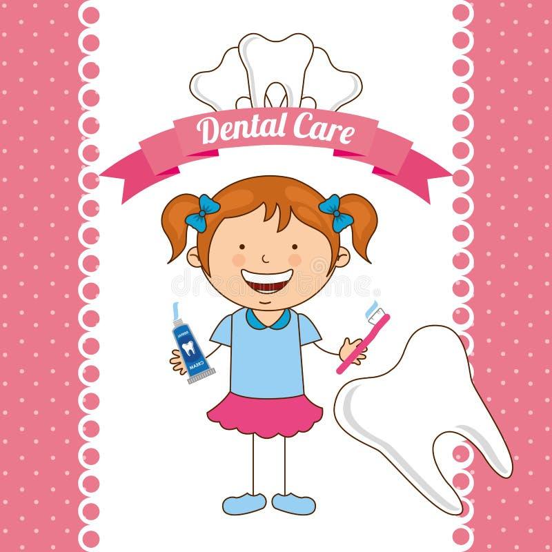 Soins dentaires d'enfants illustration libre de droits