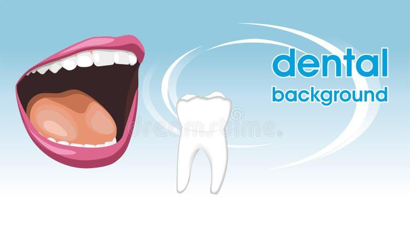 Soins dentaires. Fond pour la conception illustration stock
