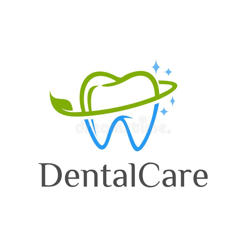 Soins dentaires Logo Design illustration stock