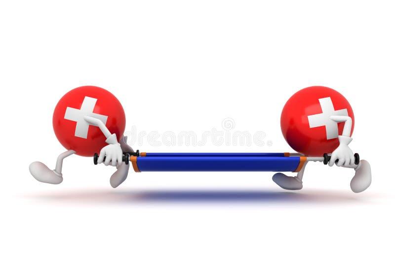 Soins médicaux de secours illustration stock