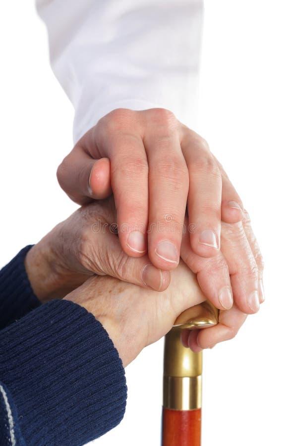 Gériatrie et soin plus âgé images stock