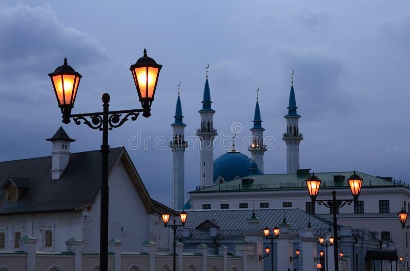 Soirée à Kazan Kremlin. photographie stock libre de droits