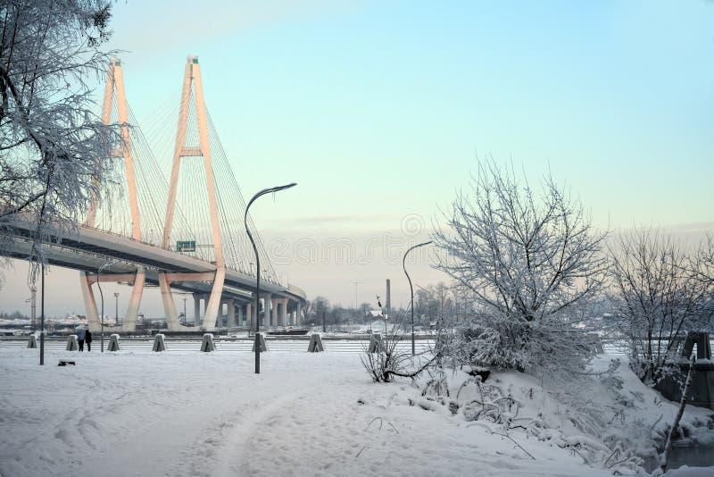 Soirée de Frosty January photo stock