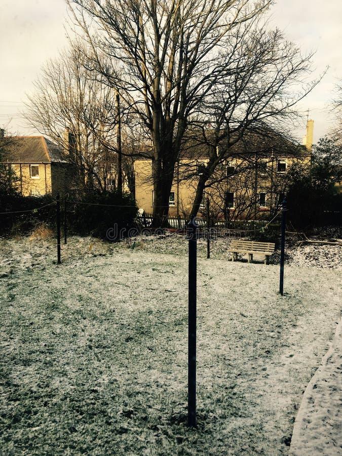 Soirée de neige photo stock