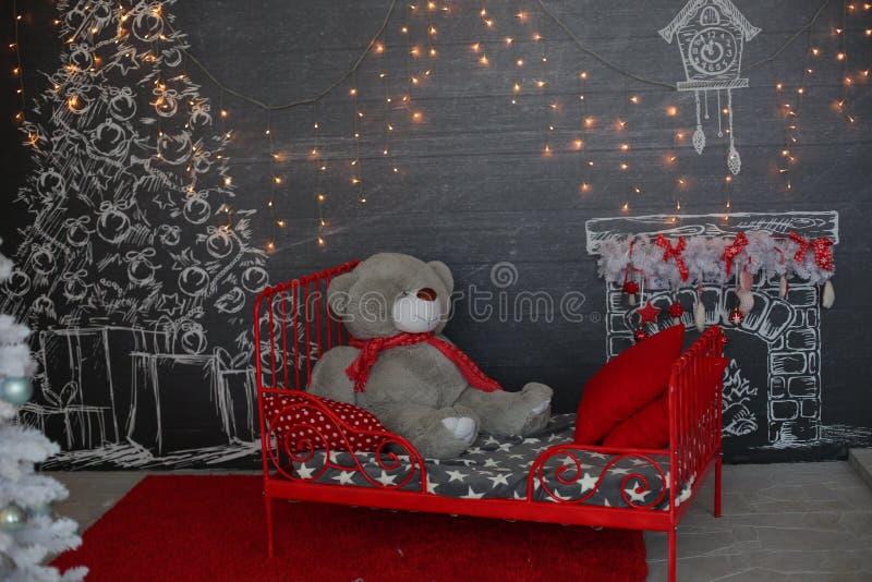 Soirée de Noël Peinture de Digitals image stock